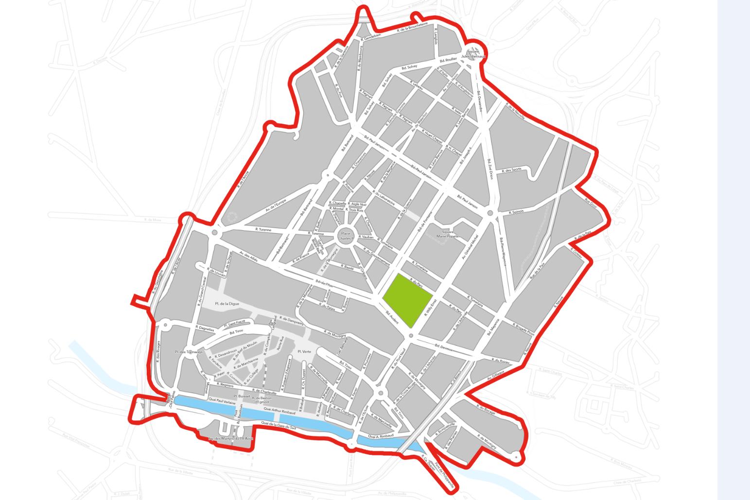 carte de la propreté publique Tibi intra-ring Charleroi