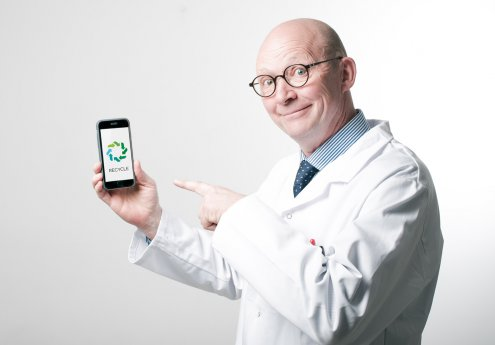 Le professeur Nodéchais et l'application Recycle