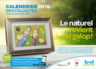 Calendrier des collectes 2016