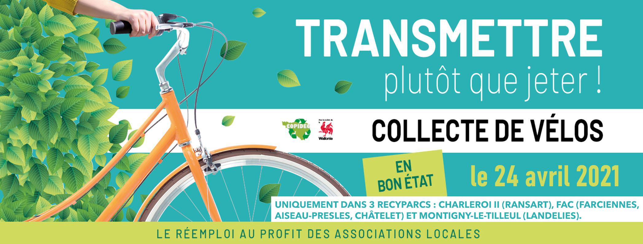 Collecte de vélos dans les recyparcs!