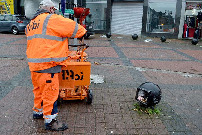 Tibi assure la propreté publique du district Nord de Charleroi.